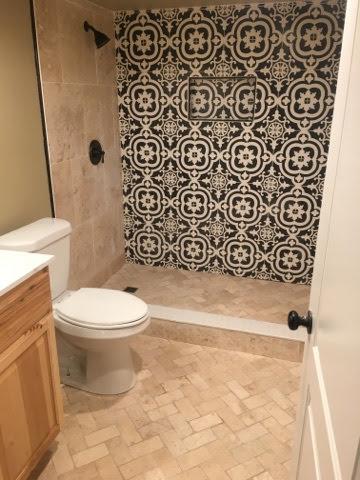 fancy bathroom in a newer basement remodeling project - NoCo Basements