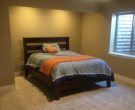 bedroom from a new remodeled basement in Fort Collins - NoCo Basements